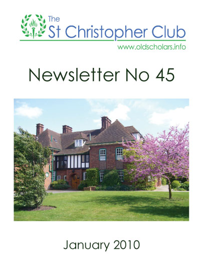Front cover of newsletter no 45.